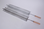 2 Large Cage Skewers - Large Charcoal/Gas BarbeSkew